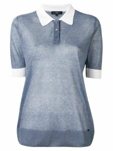Fay sheer polo shirt - Blue