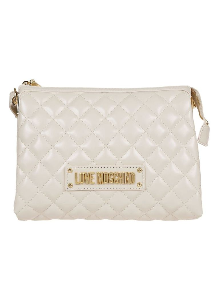 Love Moschino Quilted Pouch