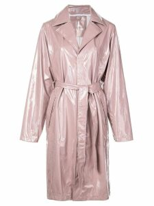 Rains iridescent trench coat - Purple