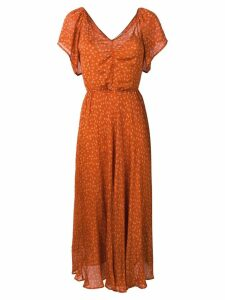 Mes Demoiselles printed maxi dress - Orange