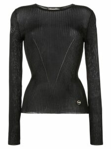 Emilio Pucci ribbed knit top - Black