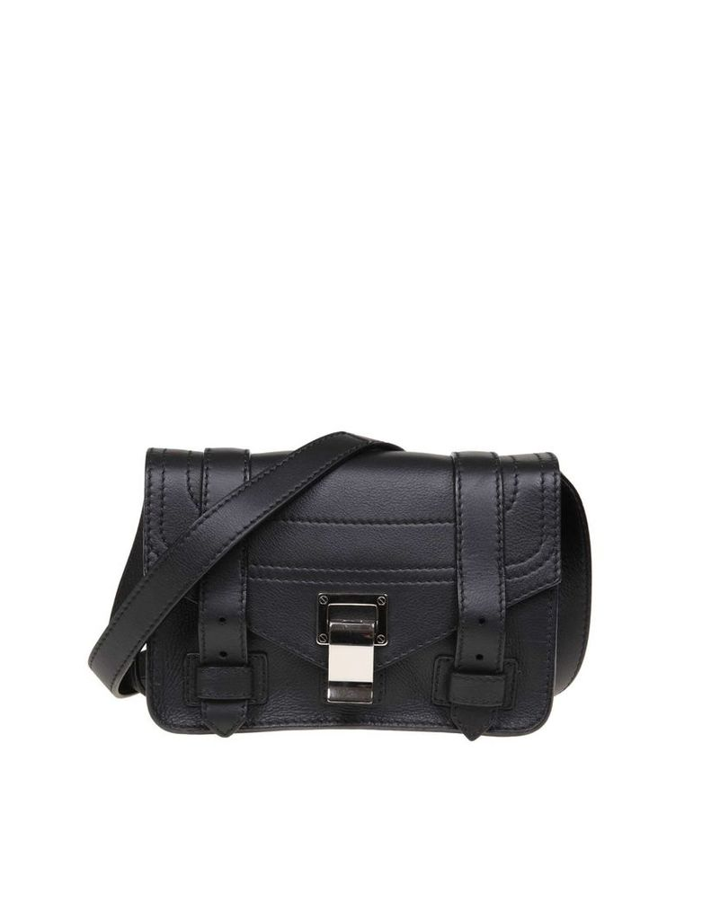 Proenza Schouler Ps1 Mini Shoulder Bag In Black Leather