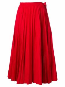 Valentino midi pleated skirt - Red