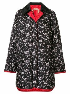 Nº21 floral fitted coat - Black