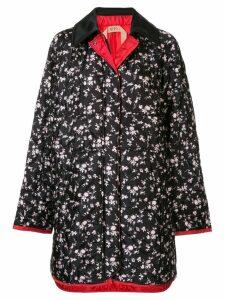 Nº21 floral fitted coat - Black