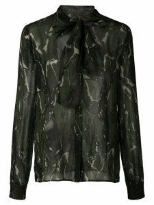 Saint Laurent camouflage print blouse - Green