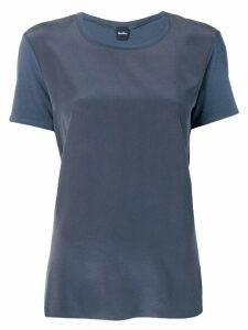 Max Mara drape style T-shirt - Blue