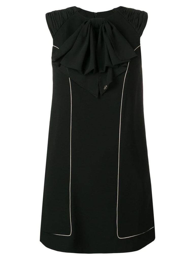Elisabetta Franchi ruffle neck mini dress - Black