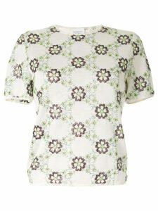 Giambattista Valli floral short-sleeve top - Multicolour
