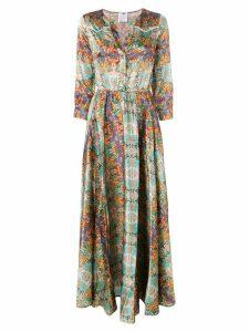 Ultràchic cat print shirt dress - Blue