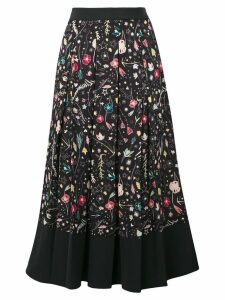 Elisabetta Franchi printed pleated skirt - Black
