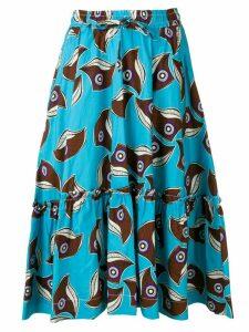 P.A.R.O.S.H. printed drawstring skirt - Blue