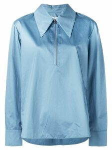 Tibi zip front shirt - Blue