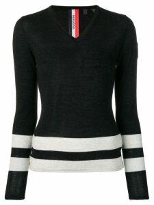 Rossignol stripe detail jumper - Black