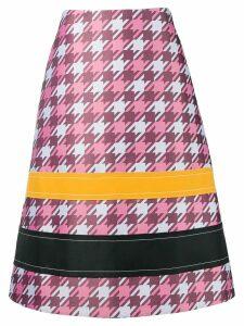 Marni a-line check skirt - Pink