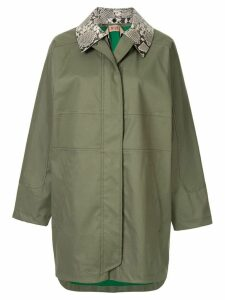 Nº21 zipped parka coat - Green
