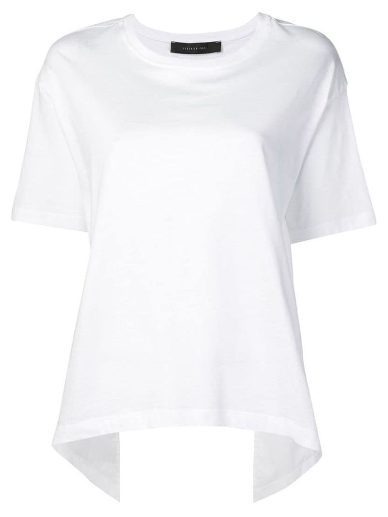 Federica Tosi cut-out ruffled T-shirt - White