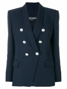 Balmain button detail blazer - Blue