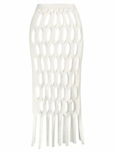 Sonia Rykiel Honeycomb double-face overskirt - White