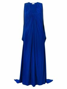 Lanvin draped maxi v-neck dress - Blue