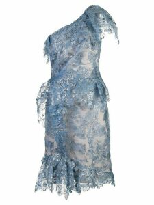 Marchesa one shoulder dress - Blue