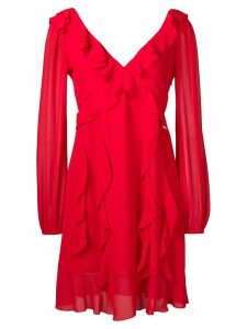 Liu Jo ruffle-trim midi dress - Red