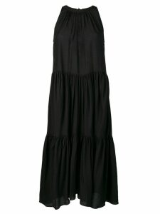 Neul sleeveless tiered ruched dress - Black