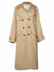 Adam Lippes fringe detailed trench coat - Neutrals