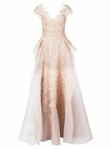 Marchesa A-line gown - Gold