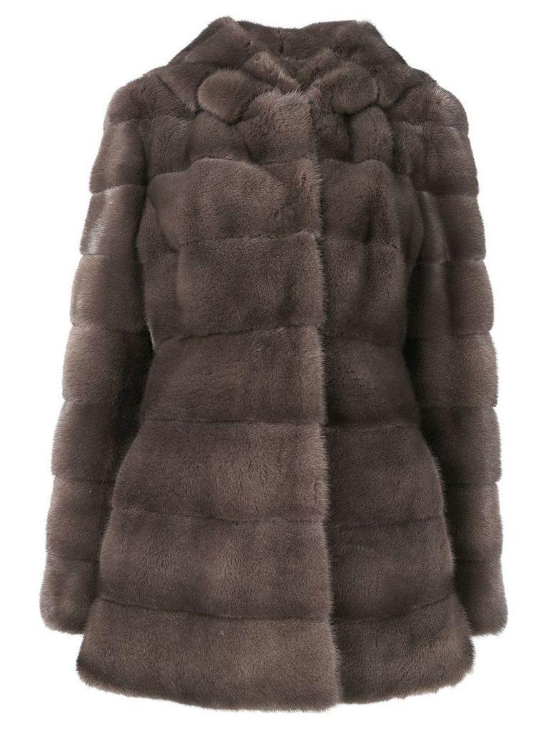 Liska Valencia fur coat - Brown