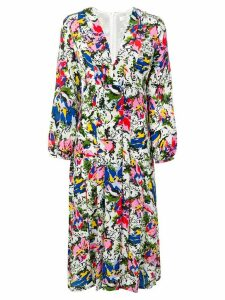 Rixo floral day dress - White