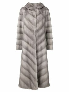 Liska Haty fur coat - Grey