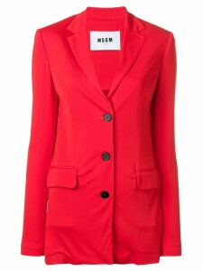 MSGM long loose fit blazer - Red