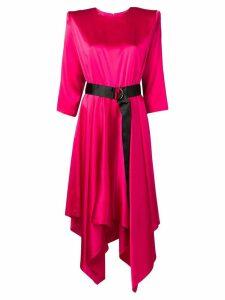 Federica Tosi belted midi dress - Pink