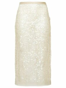 Miu Miu Nylon sequin sheath skirt - NEUTRALS