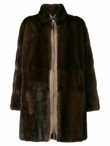 Liska classic fur coat - Brown
