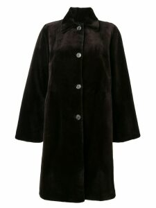 Liska single breasted coat - Brown