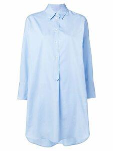 Alberto Biani oversized shirt dress - Blue