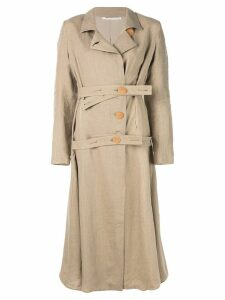 Cherevichkiotvichki double belt coat - Brown