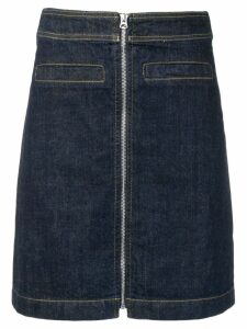 YMC A-line denim skirt - Blue