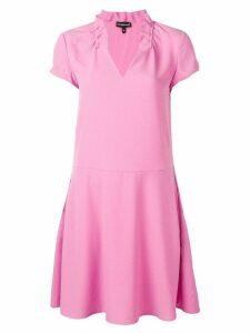 Emporio Armani V-neck shift dress - Pink