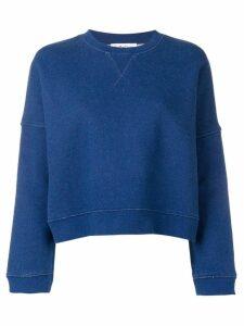 YMC cropped sweatshirt - Blue