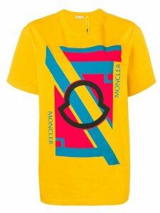 Moncler Moncler print T-shirt - Yellow