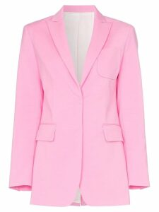 Joseph Heston button-down cotton blend blazer jacket - Pink