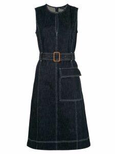 Polo Ralph Lauren belted denim flared dress - Blue