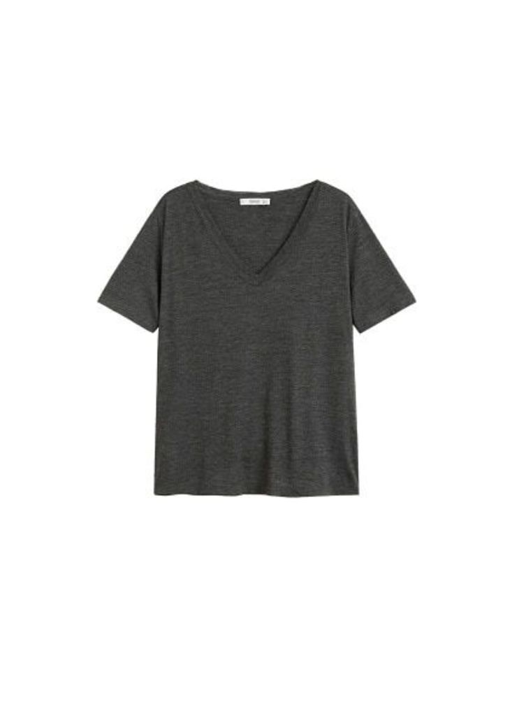 Flecked cotton-blend t-shirt