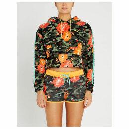 PUMA x Sue Tsai floral-print cotton-jersey cropped hoody