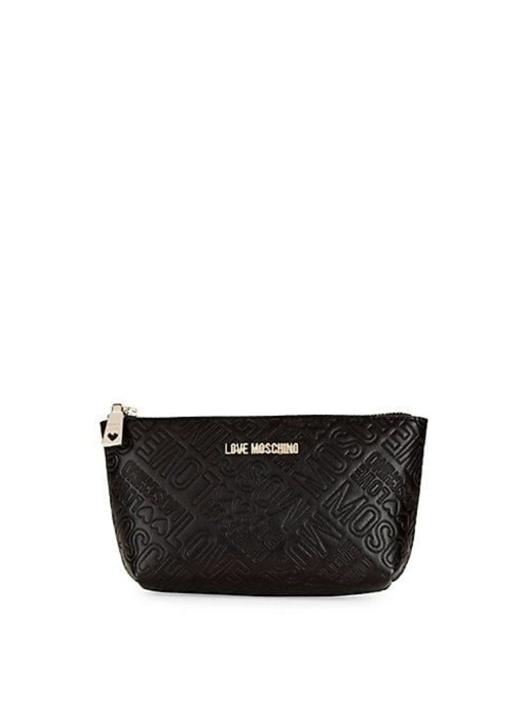Logo Embossed Zip Travel Pouch