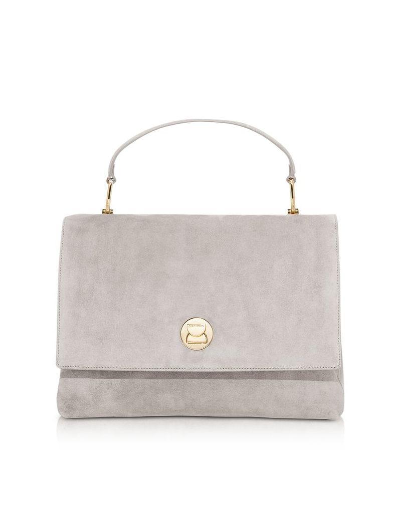 Coccinelle Designer Handbags, Liya Suede Satchel Bag