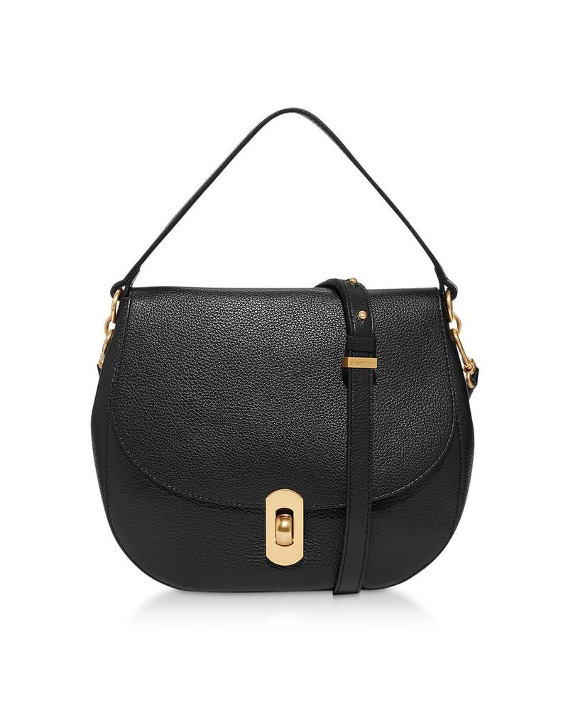 Coccinelle Designer Handbags, Zaniah Medium Leather Shoulder Bag